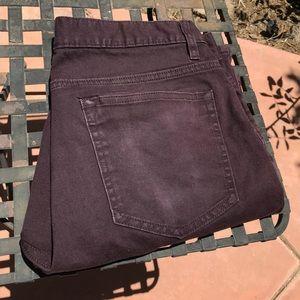 Generic H&M slim fit shorts in burgundy
